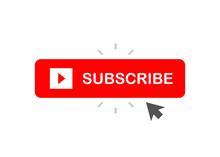 Subscribe Button Red Colored W...