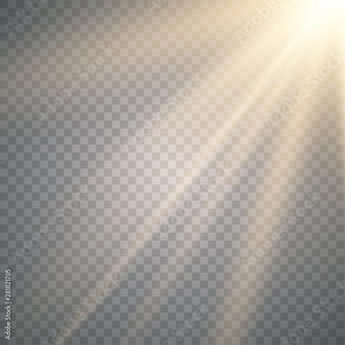 Photo Vector transparent sunlight special