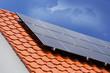 Leinwanddruck Bild - Solardach (Photovoltaikanlage)