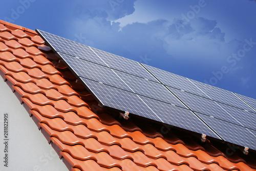 Foto auf AluDibond London Solardach (Photovoltaikanlage)