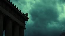 Night Cinematic Gargoyle Timelapse At The Parthenon In Nashville Tennessee