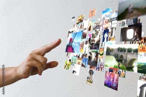 Cuadros en Lienzo Internet broadband and multimedia streaming entertainment