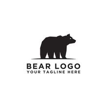 Logo Icon Design Bear Logo Vector Template. - Vector