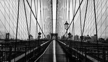 None On Brooklyn Bridge In New...