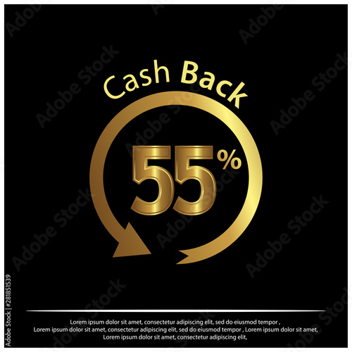 cashback icon gold icon vector illustration on black background buy this stock vector and explore similar vectors at adobe stock adobe stock adobe stock