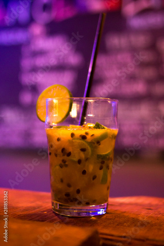Photo  Drink in bar night