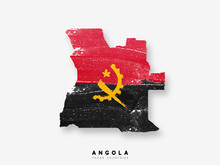Angola Detailed Map With Flag ...