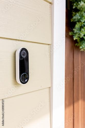 Obraz na plátne Modern Doorbell on Front of home