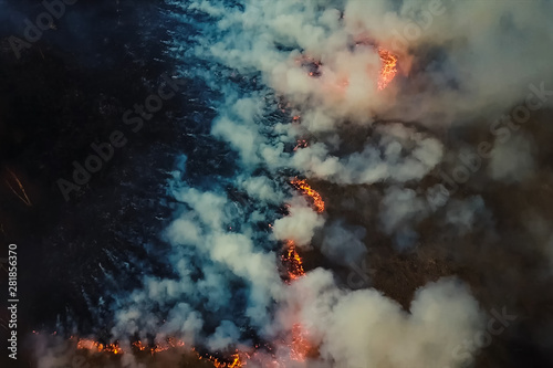 Photo Fires in Russian forest, Transbaikal forest in fire, burning of