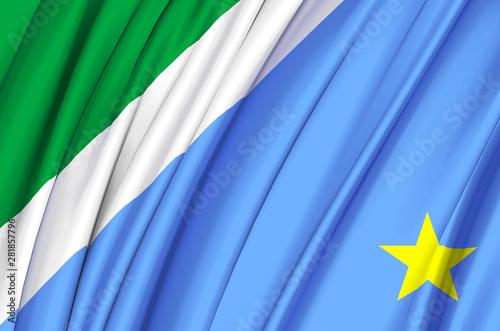 Fotografija  Mato Grosso Do Sul waving flag illustration.