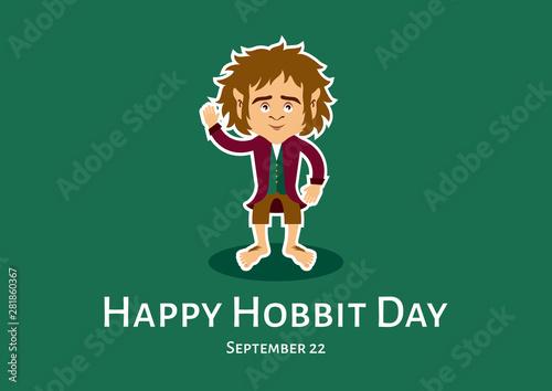 Photo  Happy Hobbit Day vector