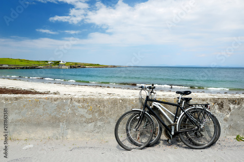 Wide sandy beach on Inishmore, the largest of the Aran Islands in Galway Bay, Ireland Canvas Print
