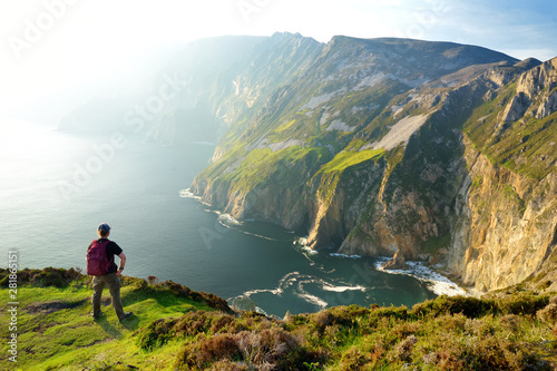 Slieve League, Irelands highest sea cliffs, located in south west Donegal along this magnificent costal driving route Wallpaper Mural