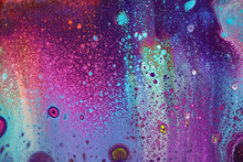 Dark Abstract Painting For Backgrounds With Seafloor Bubbles Effect.