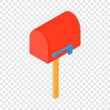 Close Mailbox Icon. Isometric Illustration Of Close Mailbox Vector Icon For Web