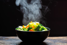 The Steam From The Vegetables ...