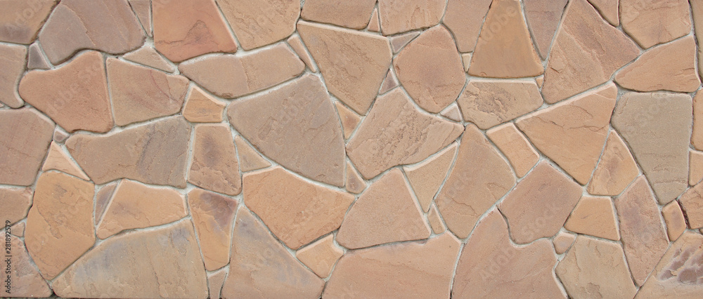 Fototapety, obrazy: Facing tile stone wall texture background