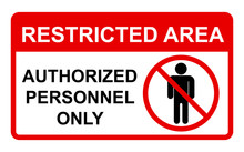 Vector Prohibited Sign Restric...