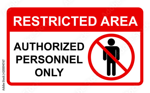 Vector Prohibited Sign Restricted Area Canvas-taulu