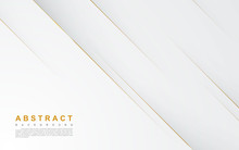 Modern Abstract Light Silver Background Vector. Elegant Concept Design With Golden Line.