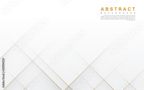 Fototapeta Modern abstract light silver background vector. Elegant concept design with golden line. obraz