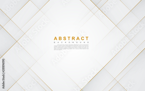 Fototapeta Modern abstract light silver background vector. Elegant concept design with golden line. obraz