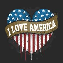 I LOVE YOU AMERICA USA FLAG AR...