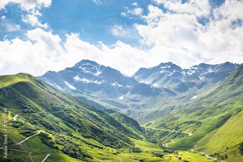 Fototapeta Mountain Range In Austrian Alps obraz