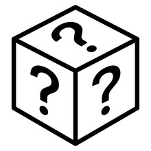 Mystery Box Or Random Loot Box Line Art Vector Icon For Games And Apps