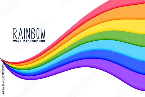 colorful wavy rainbow flow background