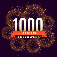 1000 Followers Thank You Celebration Firework Template