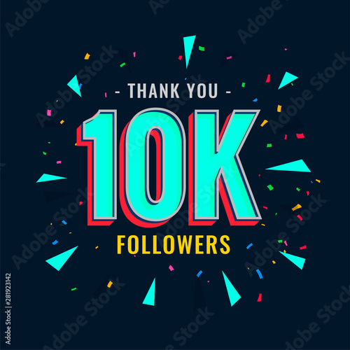 Photo 10k social followers and subscribers template