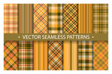 Set Plaid Pattern Seamless. Ta...