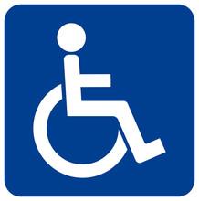 Toilet Disabled Symbol Sign, Vector Illustration, Isolate On White Background Label. EPS10