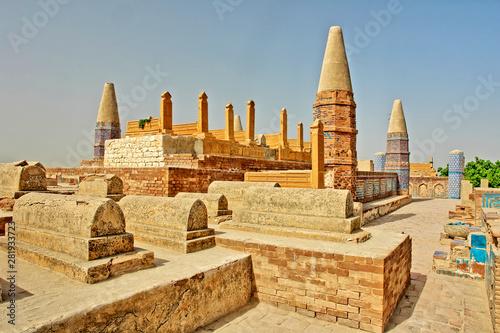 Fototapeta Seven Sister's Graveyard at Sukkur, Sindh - Pakistan obraz