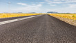 canvas print picture - View of an empty country highway road