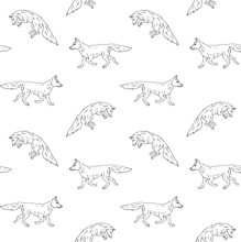 Vector Seamless Pattern Of  Bl...