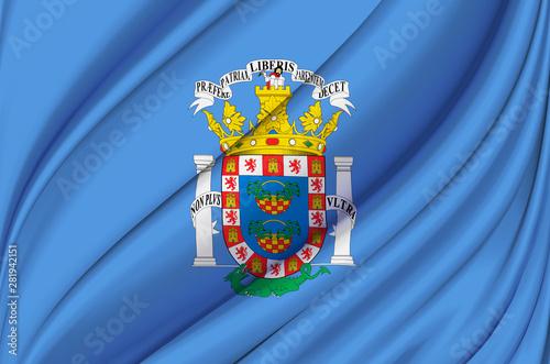 Melilla waving flag illustration.
