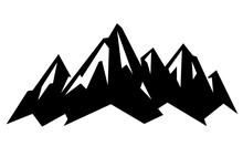 Mountain Alps Abstract