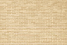 Brick Wall Texture Pattern Background In Natural Light Ancient Cream Beige Yellow Brown