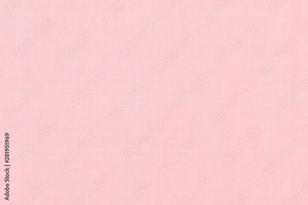 Fototapety, obrazy: Woven cotton linen fabric textile textured backdrop in pastel light sweet romantic pink red color tone