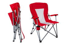 Red Folding Chair For Fishing ...