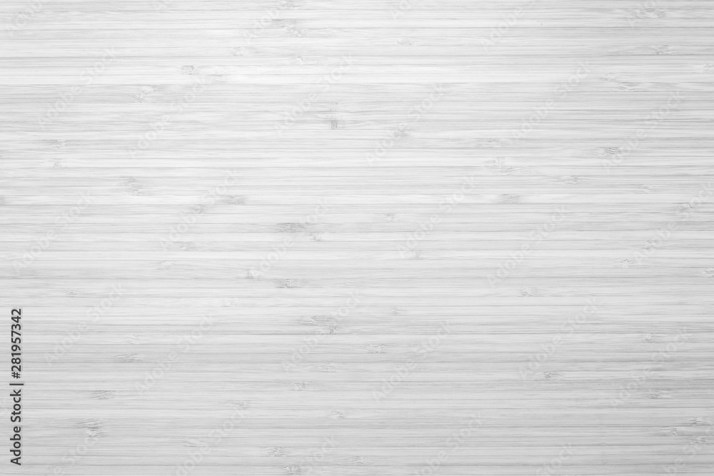 Fototapeta Bamboo wood background in white gray color top view..