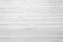 Bamboo Wood Background In White Gray Color Top View..