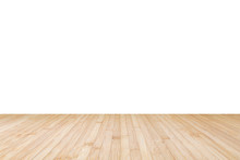 Wood Floor Texture In Natural Yellow Cream Brown Color Isolated On White Wall Background