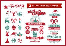 Christmas Retro Vector For Banner, Poster, Flyer