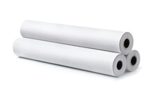 Three Rolls Of Blank White Paper