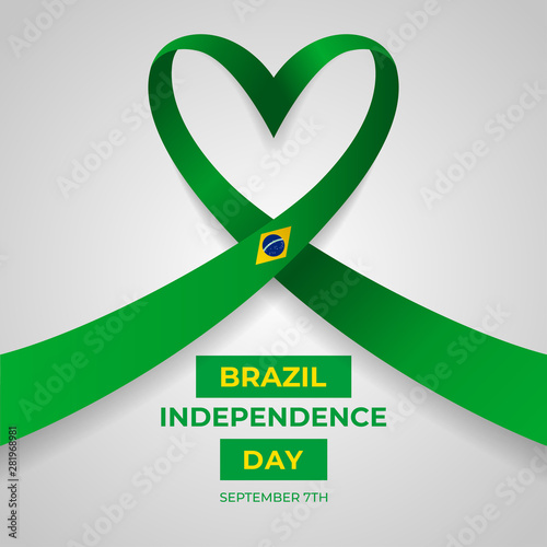 Fotografía  Happy Federative Republic of Brazil Independence Day Vector Design Template Illu
