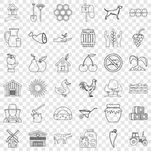Housekeeping Icons Set. Outline Style Of 36 Housekeeping Vector Icons For Web For Any Design