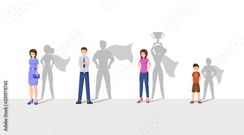 Best leaders flat vector illustration Wallpaper Mural